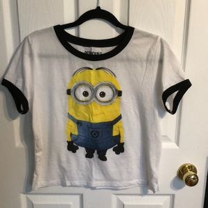 Tops - Minion cropped tee